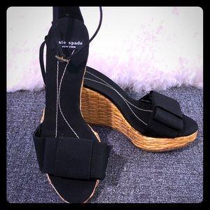 Kate Spade Callista Wicker Wedges Size 5 - NEW
